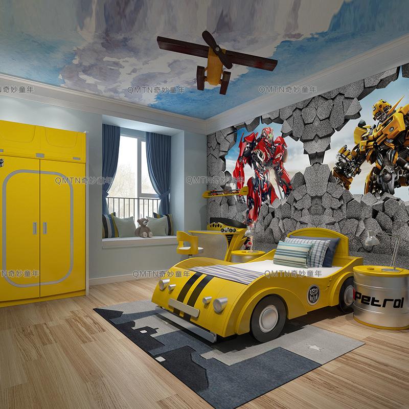 Đồ nội thất nhà gỗ cứng chỉnh tề Bạn tình áo Bumblebee không đua xe.