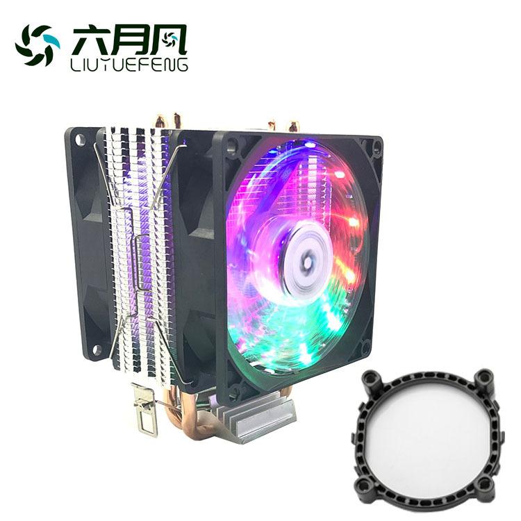 June wind dual heat pipe cpu cooler AMD 1155 1366 desktop computer cpu cooler fan mute