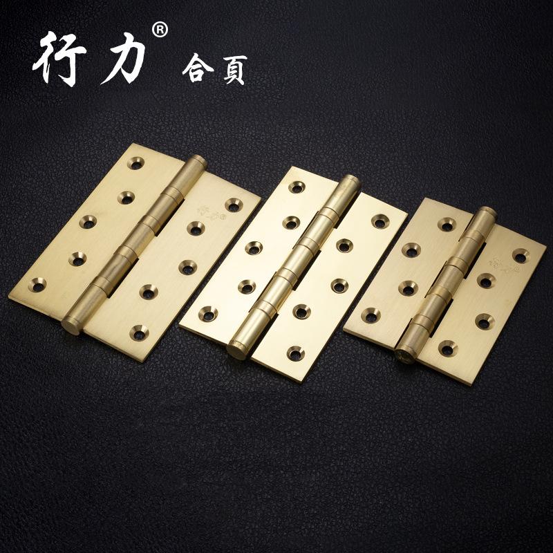XINGLI Bản lề cửa 4 inch-8 inch, bản lề chịu lực bằng đồng nguyên chất, phụ kiện cửa gỗ bản lề, bản