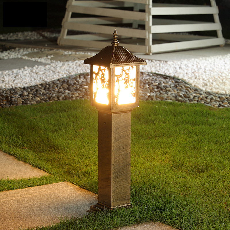 Liangyuan 0.6m European retro led lawn light Chinese antique die-casting aluminum outdoor waterproof