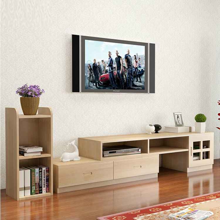 FUMANTANG Retractable simple modern TV cabinet coffee table combination solid wood small apartment l