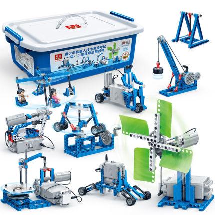 Bangbao Bộ đồ chơi rút gỗ  6933 lập trình thiết bị cơ khí thân cây 6932 robot dạy học tiểu học lắp r