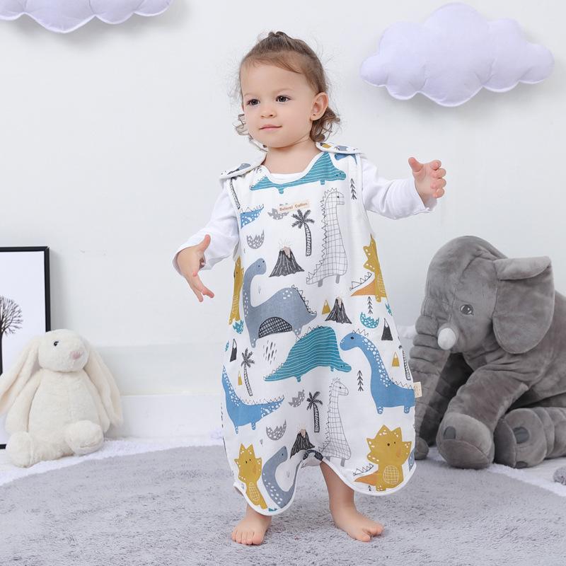 BUZHITONG Túi ngủ trẻ em Vest kiểu dáng cho bé ngủ túi ngủ trẻ em bé chống đá chăn mùa xuân và mùa h