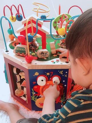 Đồ chơi bằng gỗ  Bé 1 tuổi rưỡi câu đố bé trai thông minh 0-1 tuổi bé đồ chơi giáo dục sớm giác ngộ