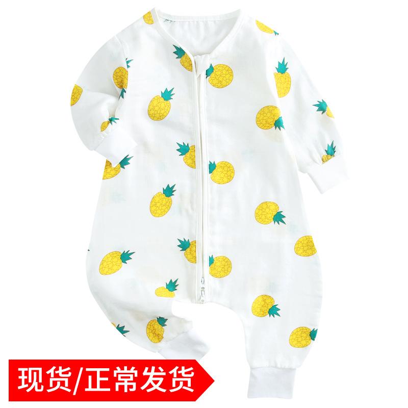 PANPAN TREE Túi ngủ trẻ em 2019 mới cho bé mùa xuân và mùa hè mẫu quần áo trẻ em cotton dài tay dịch