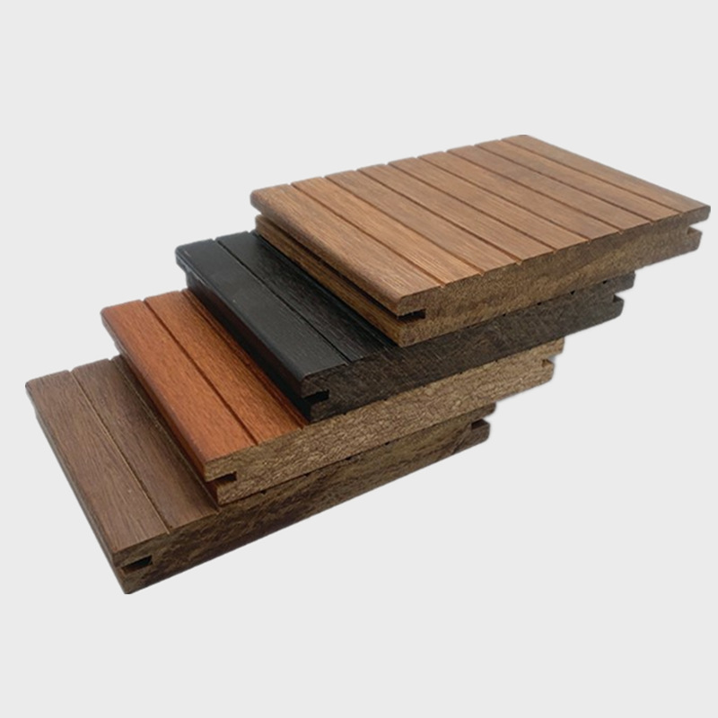 SHOUJUN Outdoor bamboo and wood flooring Garden landscape High-resistant heavy bamboo flooring Park