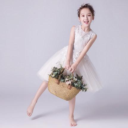 Trang phục dạ hôi trẻ em  Trẻ em váy công chúa váy cô gái váy cưới sợi bông hoa cô gái piano trang p