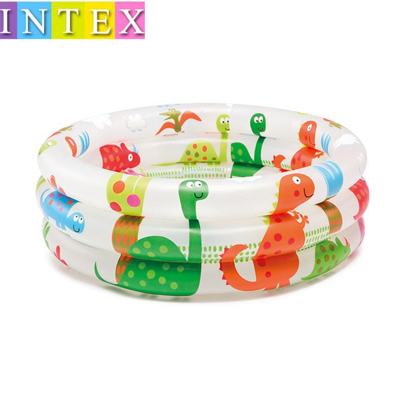 INTEX bể bơi trẻ sơ sinh 57106 khủng long và núi lửa bể bơi trẻ em vòng ba vòng bể bơi trẻ em bể bón