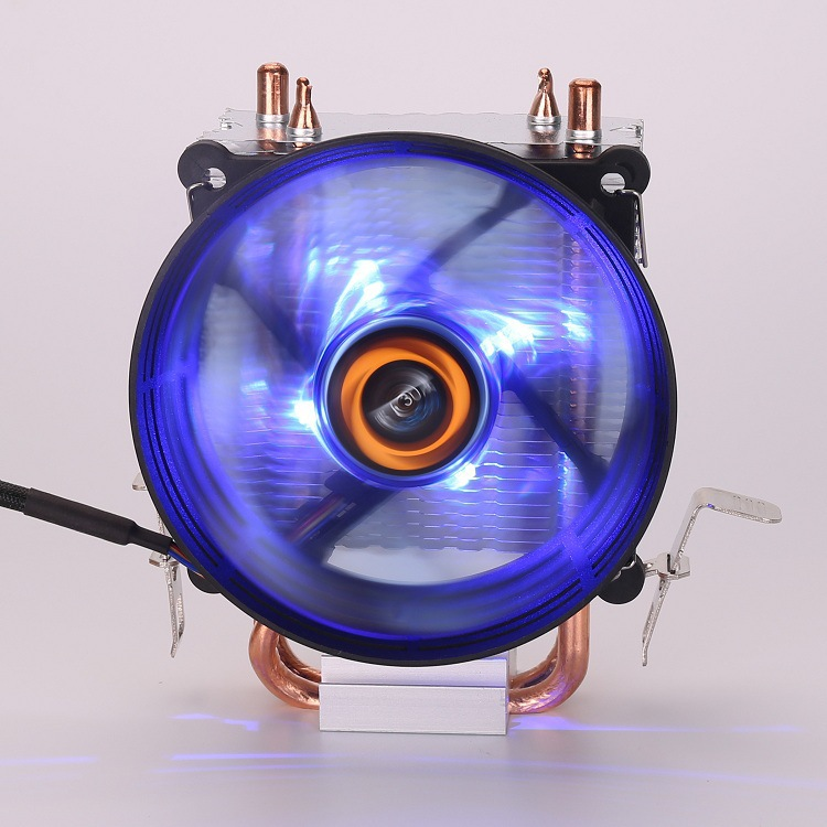 Ferris wheel mini CPU radiator ultra-quiet cpu luminous 775amd11501 computer fan copper heat pipe