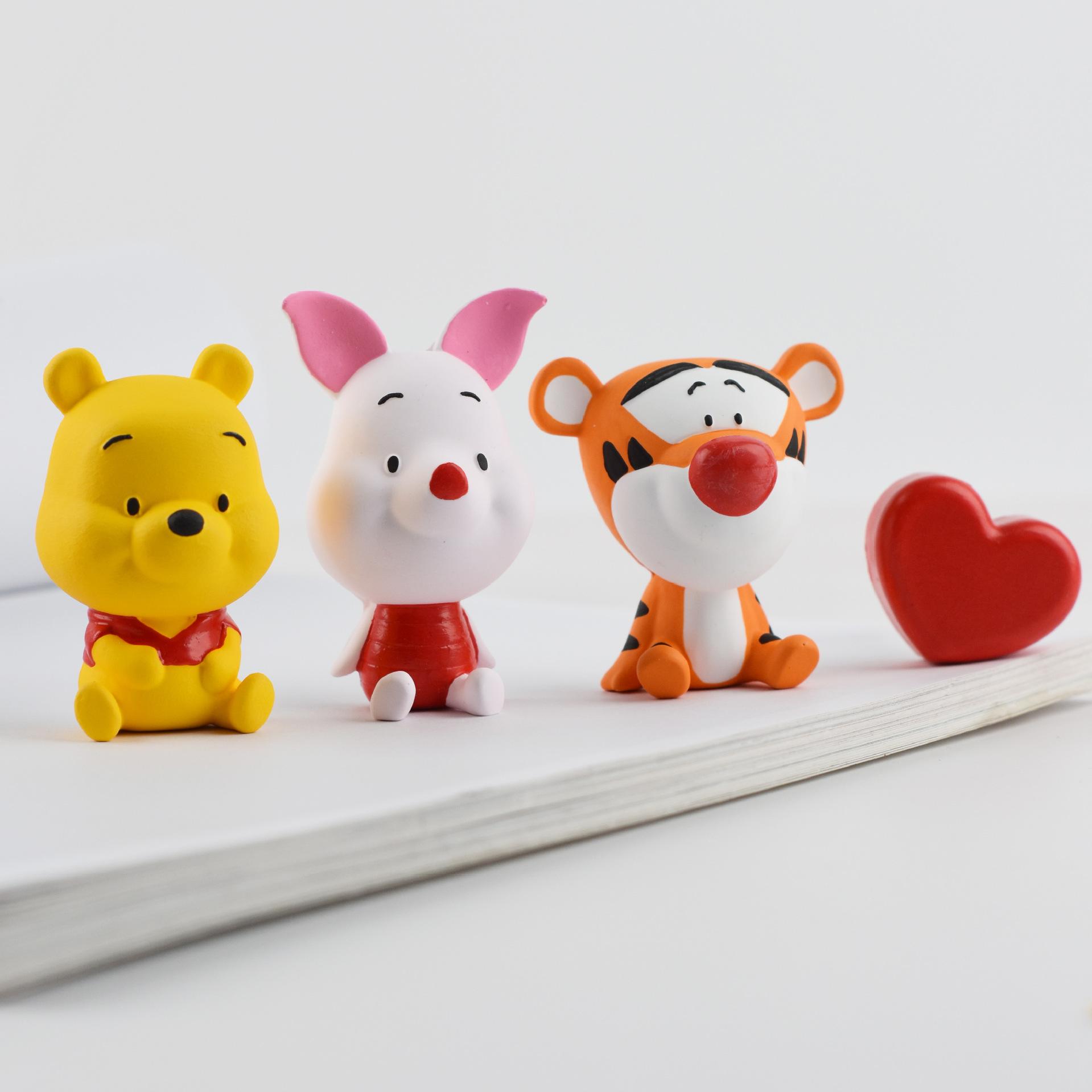 BAIRUIXIANG nước hoa Car perfume aromatherapy piggy car with cute Pooh bear jumping tiger car air ou