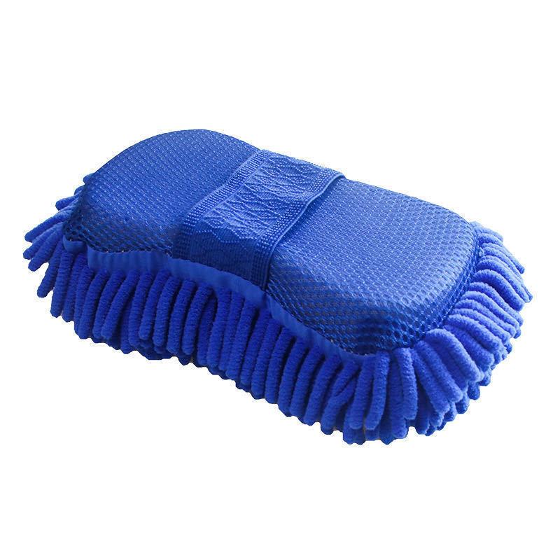 Mút Chenille làm sạch khối bọt biển, làm sạch xe san hô rửa xe bọt biển, làm sạch xe ô tô găng tay