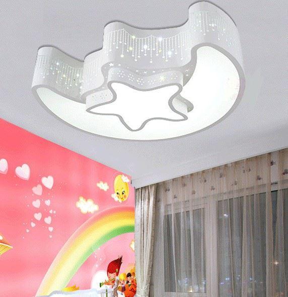 SHANFU Modern minimalist creative star moon LED living room ceiling lamp warm bedroom lamp study lam