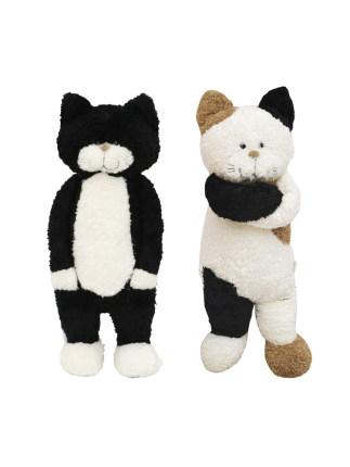 LIVHEART  Búp bê vải  trà gạo mèo búp bê đồ chơi sang trọng mèo búp bê ngủ gối búp bê dễ thương món