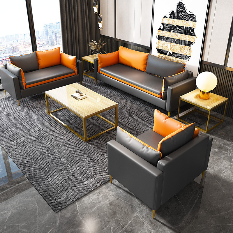JIALUNDUO Office sofa simple and modern meeting business negotiation single leisure reception area o