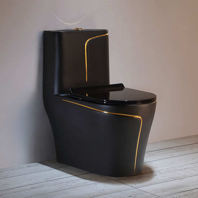 YIMEINA Modern color toilet, light luxury and high temperature integrated high-hardness ceramic toil