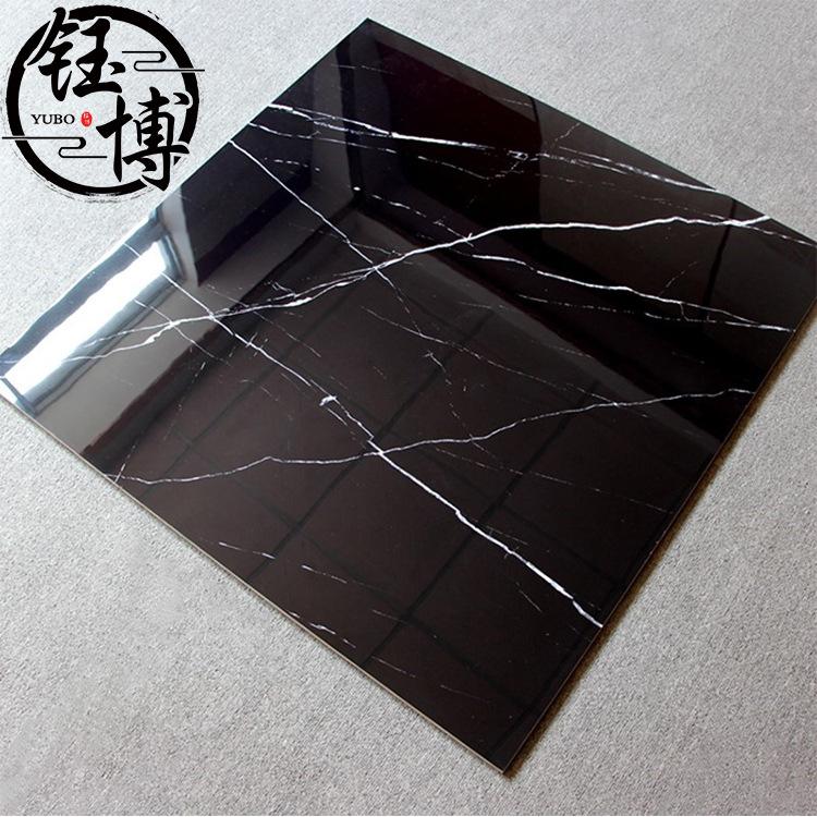 YUBO Foshan ceramics 800×800 black and white root polished glazed tiles living room hotel anti-skid
