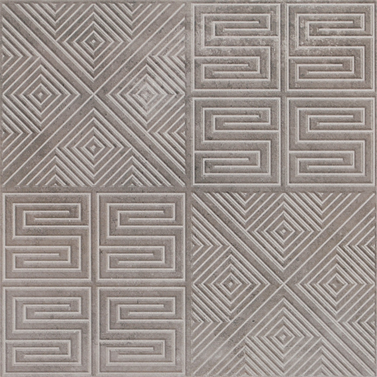 LUOQISI Gray three-dimensional cement gray brick 60*60mm porcelain inkjet antique brick