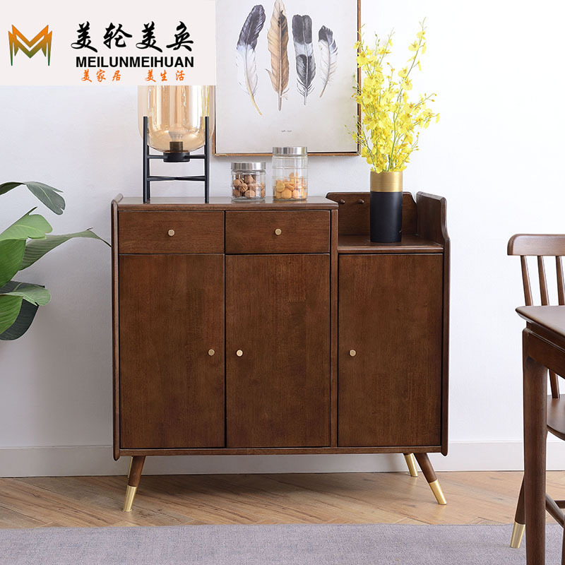 MLMH Nordic solid wood shoe cabinet home door modern simple entrance cabinet economical multi-layer
