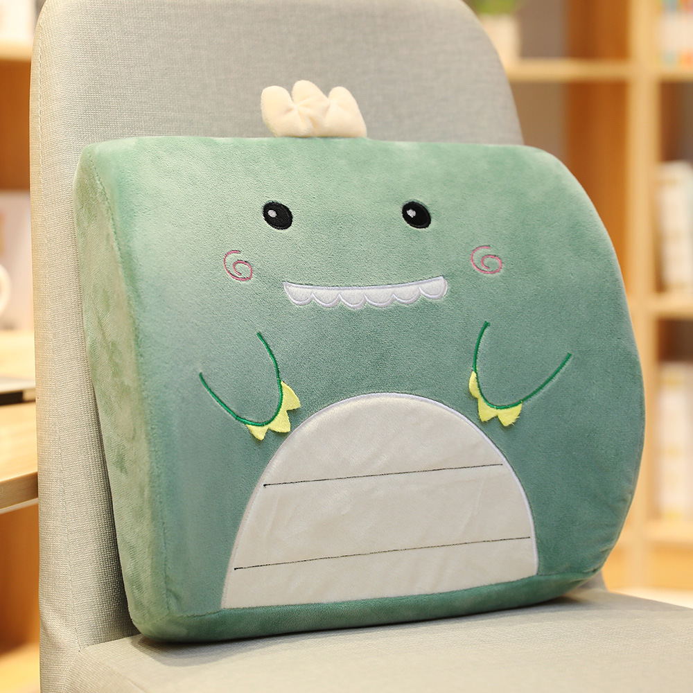 DAIDAIWU Car pillow cushion Office waist pillow back cushion Cartoon memory foam pillow chair backre