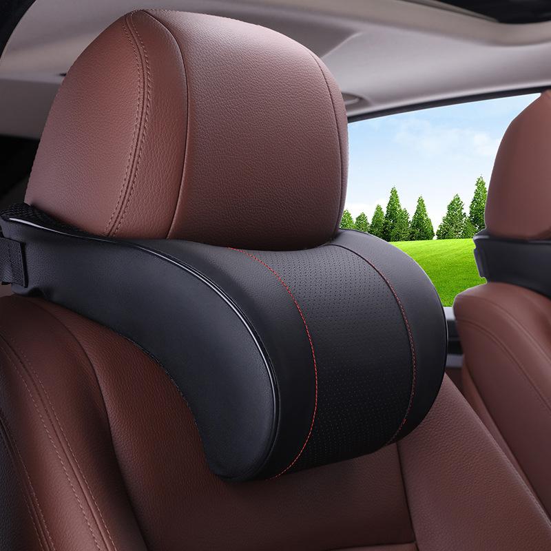 Gối đầu xe hơi Tựa đầu xe ô tô chậm bông đàn hồi đặt phù hợp với cổ gối gối xe đệm tự động cung cấp