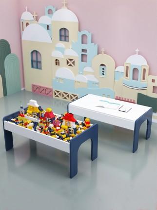 Bộ đồ chơi rút gỗ  Giáo dục trẻ em đa năng xây dựng bàn, nam và nữ lắp ráp bàn đồ chơi tương thích v