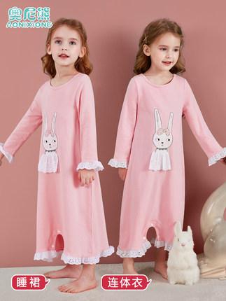 Đồ ngủ trẻ em Váy ngủ cho bé gái bằng vải cotton mỏng mùa hè kiểu công chúa cho bé dịch vụ mặc đồ ng