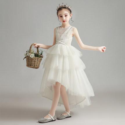 Trang phục dạ hôi trẻ em  Đầm trẻ em công chúa cao cấp váy cô gái sợi bông hoa cô dâu váy cưới sinh