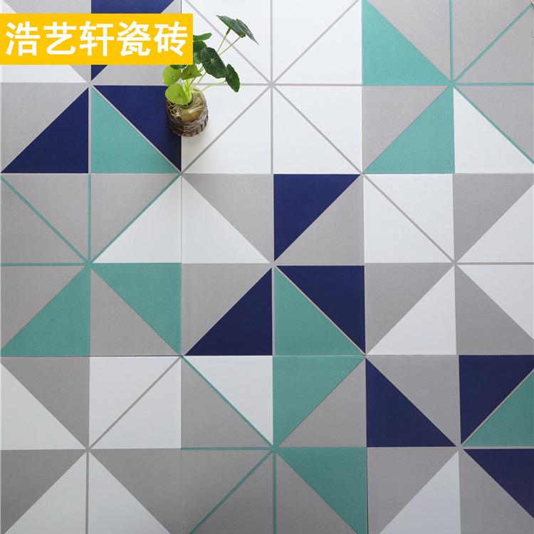 MAIDU Gạch men sứ Nordic minimalist style tile balcony non-slip small floor tile restaurant kitchen