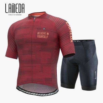 Lampada Trang phục xe đạp  Bộ đồ đi xe đạp Lampada 2020 phù hợp với mùa hè tay áo ngắn nam xe đạp le