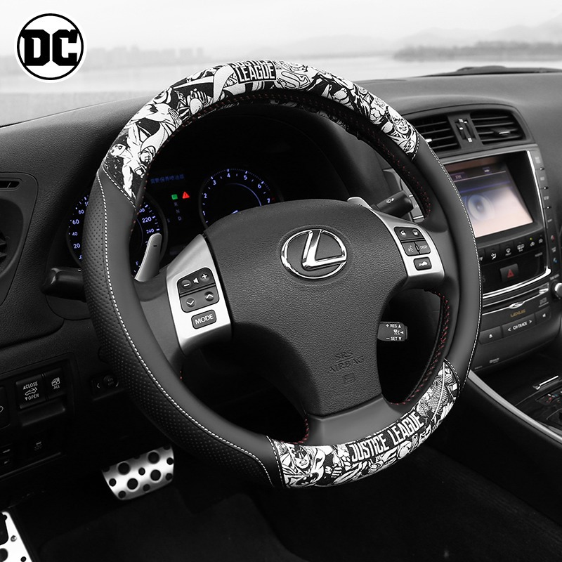 Da bọc vô lăng Car steering wheel cover car universal non-slip breathable leather handle set car ste
