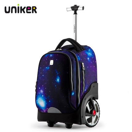 Cặp học sinh Hot  Túi xe đẩy của học sinh trung học cơ sở UNIKER có thể leo lên cầu thang bánh xe lớ