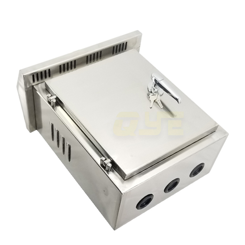 QYE 304 stainless steel electrical control outdoor box large-capacity outdoor rainproof power distri