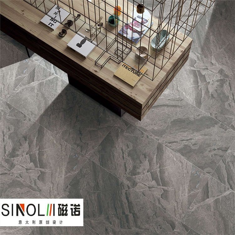 CINUO Simple modern light luxury floor tile 600X1200 full body marble tile floor tile living room no