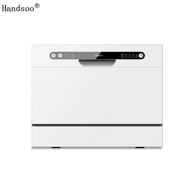 Handsoo Dishwasher independent automatic household table-mounted dual-purpose dishwasher 6 sets of d