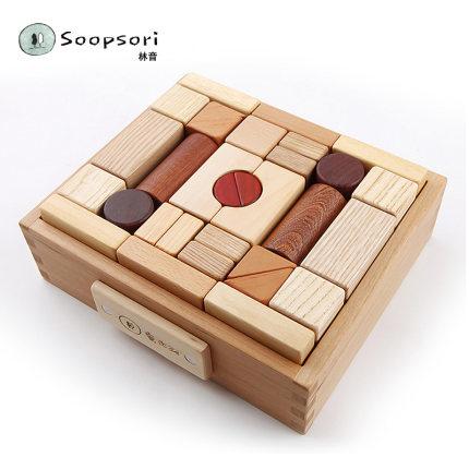 soopsori  Bộ đồ chơi rút gỗ  Đồ chơi khối xây dựng soopsori Đồ gỗ Hàn Quốc cho bé 1-2 tuổi 3-6 tuổi