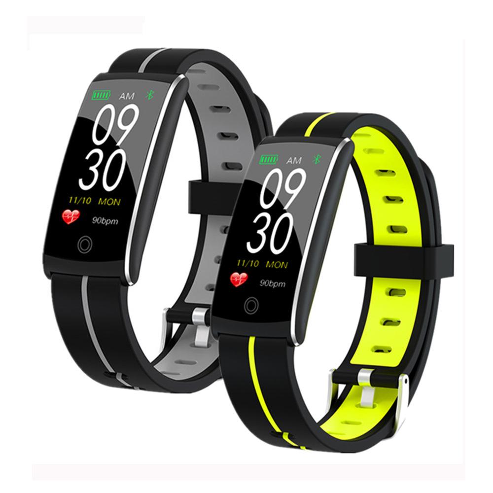 Cross-border hot model F10+ smart color sports Bluetooth bracelet, heart rate monitoring, waterproof