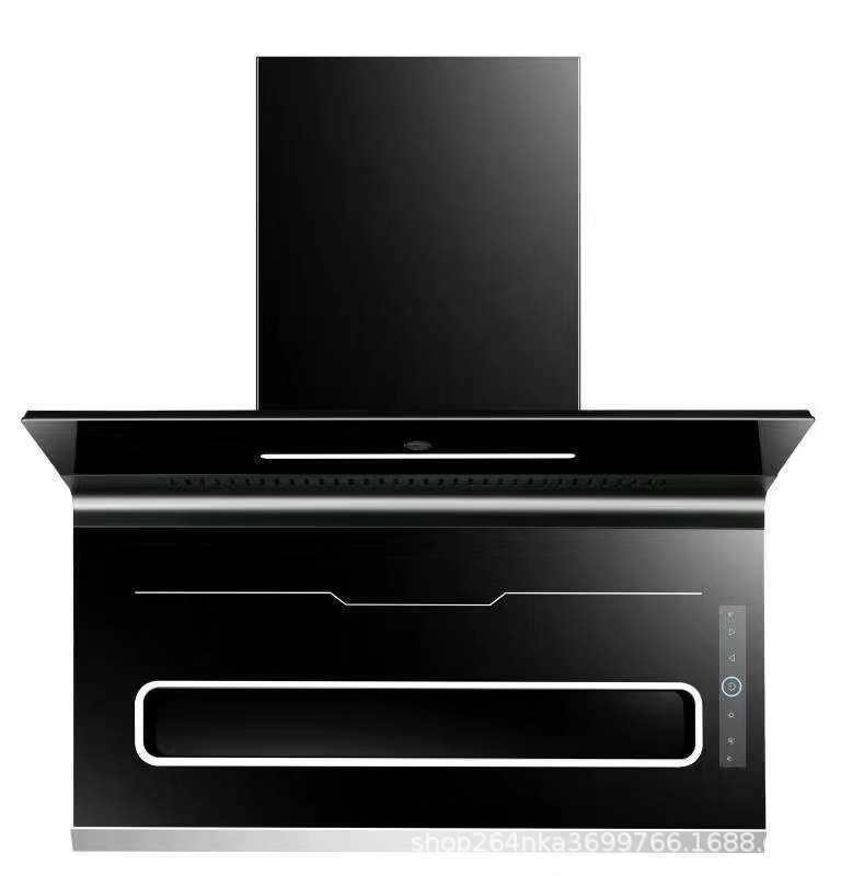 Range hood ultra-thin seven-character hood top suction side suction large suction hood electric heat