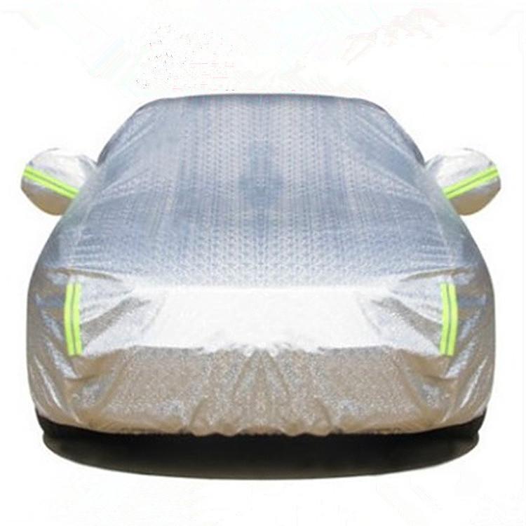 WOFAN Áo trùm xe hơi Quần áo bằng nhôm phim xe hơi cộng với kem tuyết dày và chống mưa và chống nắng