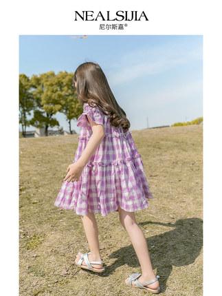 Trang phục trẻ em mùa hè  Váy bé gái 2020 quần áo mùa hè mới Quần áo trẻ em nước ngoài trong mùa hè