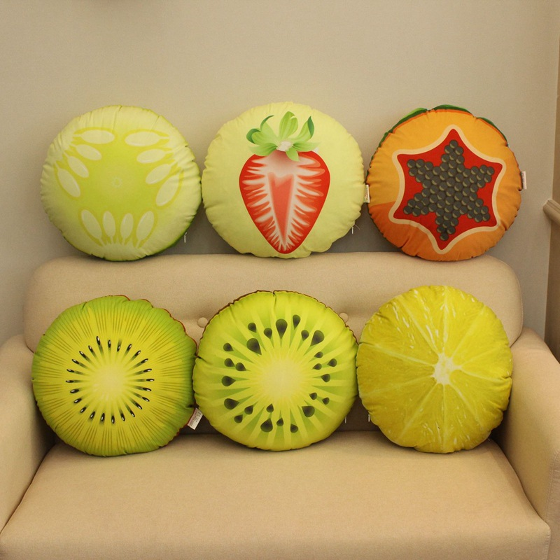 YIZHUO Fruit Siesta Pillow Car Waist Pillow Pillow Pillow Quilt Dual-purpose Backrest Mat Lunch Brea