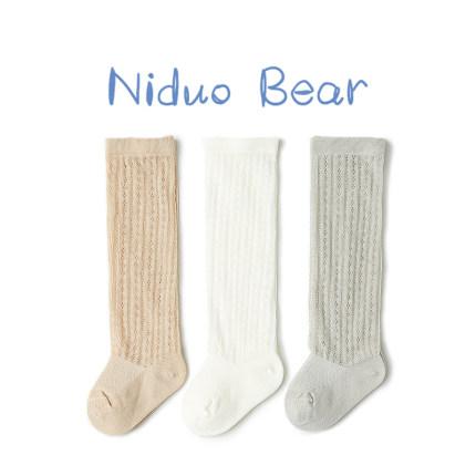 Vớ trẻ em  Vớ bé Nido gấu quá gối cho bé sơ sinh vớ chống muỗi mùa hè cotton mỏng
