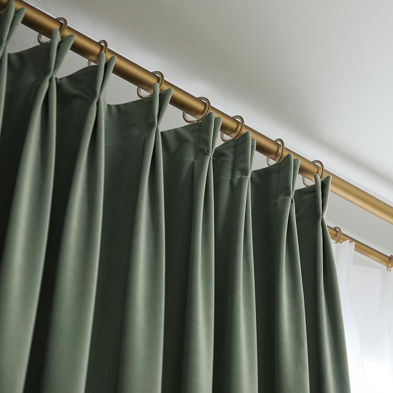 Curtain finished simple modern blackout bedroom living room balcony Nordic ins net red velvet full s