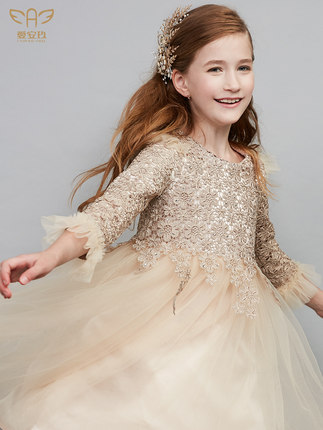 Trang phục dạ hôi trẻ em  Váy trẻ em, váy công chúa nữ, váy cưới hoa cô gái, váy dạ hội bé gái phong