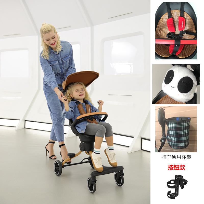 BBH Xe đẩy trẻ em Bé đi bộ tốt Xe đẩy trẻ em V5 có thể gập lại nhẹ Hai chiều xe đẩy em bé phong cảnh