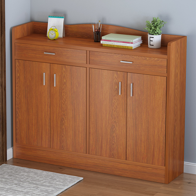 Wooden shoe cabinet door, large capacity, space-saving, simple storage cabinet, simple and economica