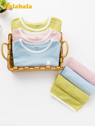 Balabala Đồ ngủ trẻ em đồ ngủ trẻ em mùa hè quần áo điều hòa không khí mỏng bé trai và bé gái phục v