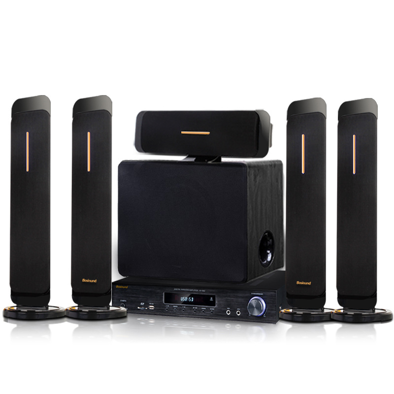 Boston SD103+W80+K999 5.1 Home Theater Audio Built-in Bluetooth Living Room TV Computer Tour