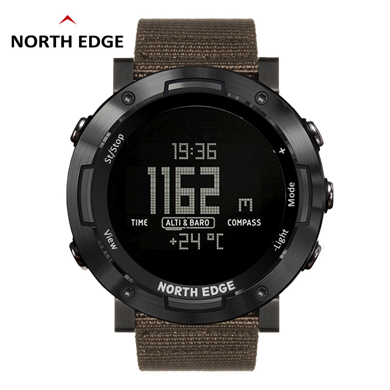 NORTH EDGE Smart outdoor sports watch NORTH EDGE high-value colorful nylon strap multi-function chro