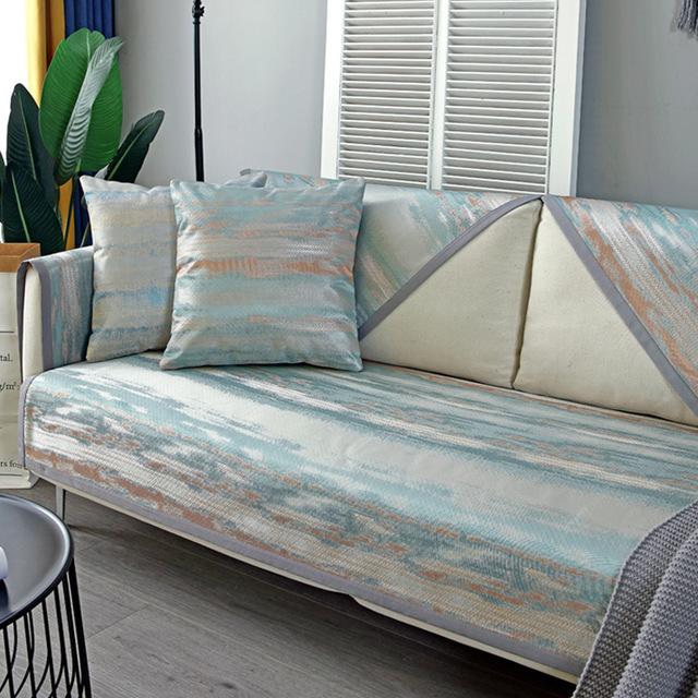 MENGSHALA Sofa cushion summer mat cool mat ice silk bamboo mat summer models rattan seat cushion non