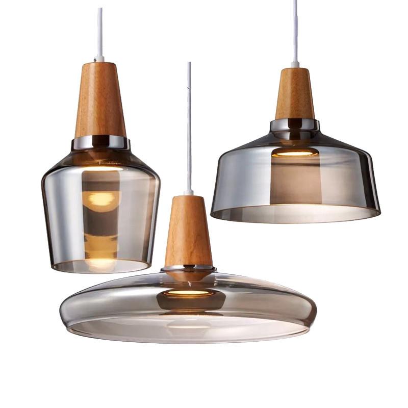 Nordic chandelier window handmade creative bedroom lamp restaurant glass chandelier three head bar c